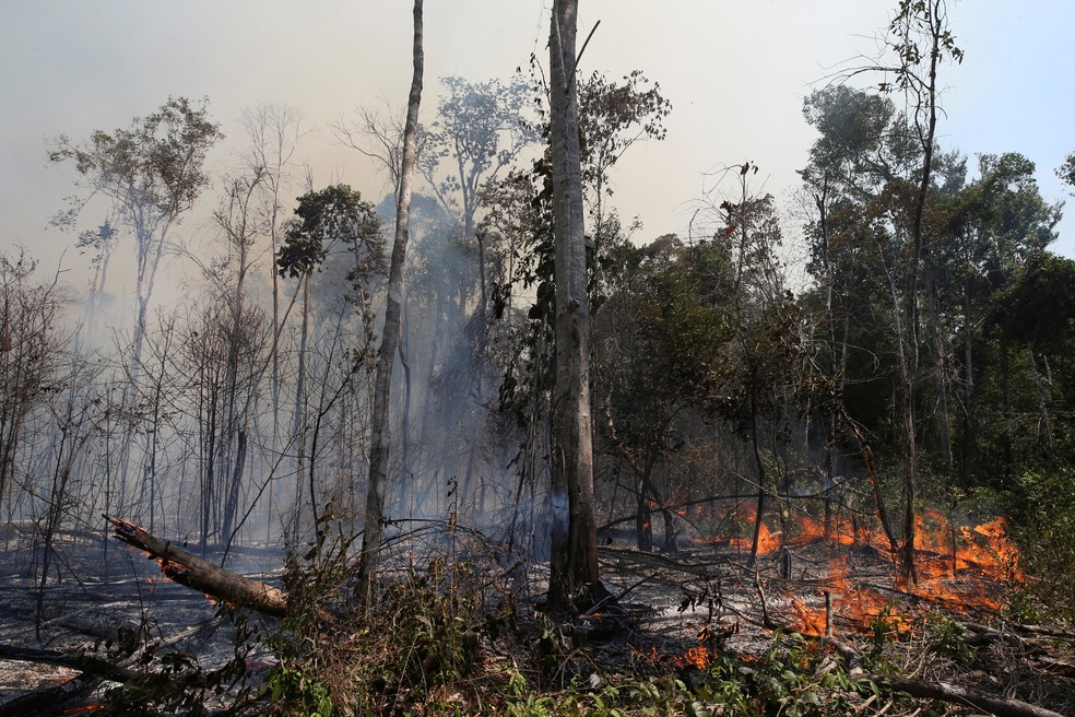 Burning in the Amazon - Focus of fire in the Amazon forest in the city of União do Sul, Mato Grosso, on September 4, 2019 - Photo: Reuters / Amanda Perobelli
