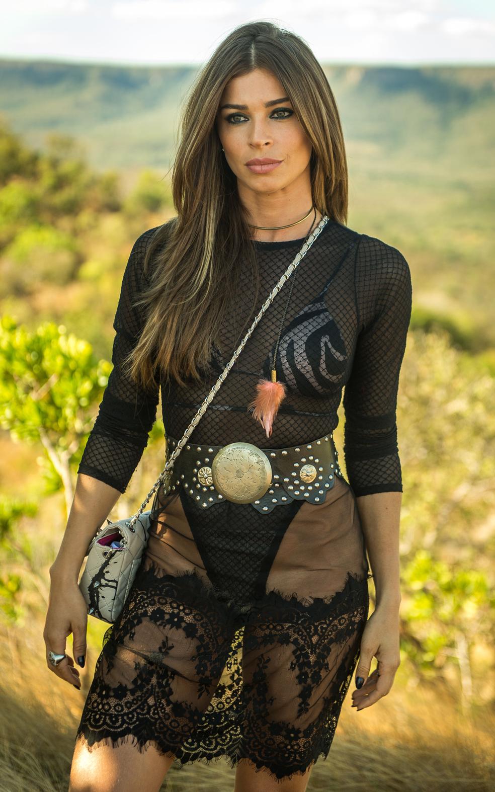 Uma mulher de atitude, muito sedutora, que não medirá esforços para conseguir o que deseja  (Foto: Raquel Cunha/TV Globo)