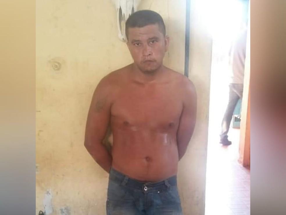 Josiel Lopes confessou que tentou matar o idoso   — Foto: Polícia Militar de Alenquer/Divulgação