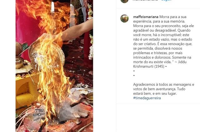 Post de Mariana Maffei no Instagram (Foto: Reprodução/Instagram)