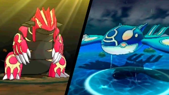 Kyogre e Groudon são os primeiros lendários do game (Foto: Divulgação)