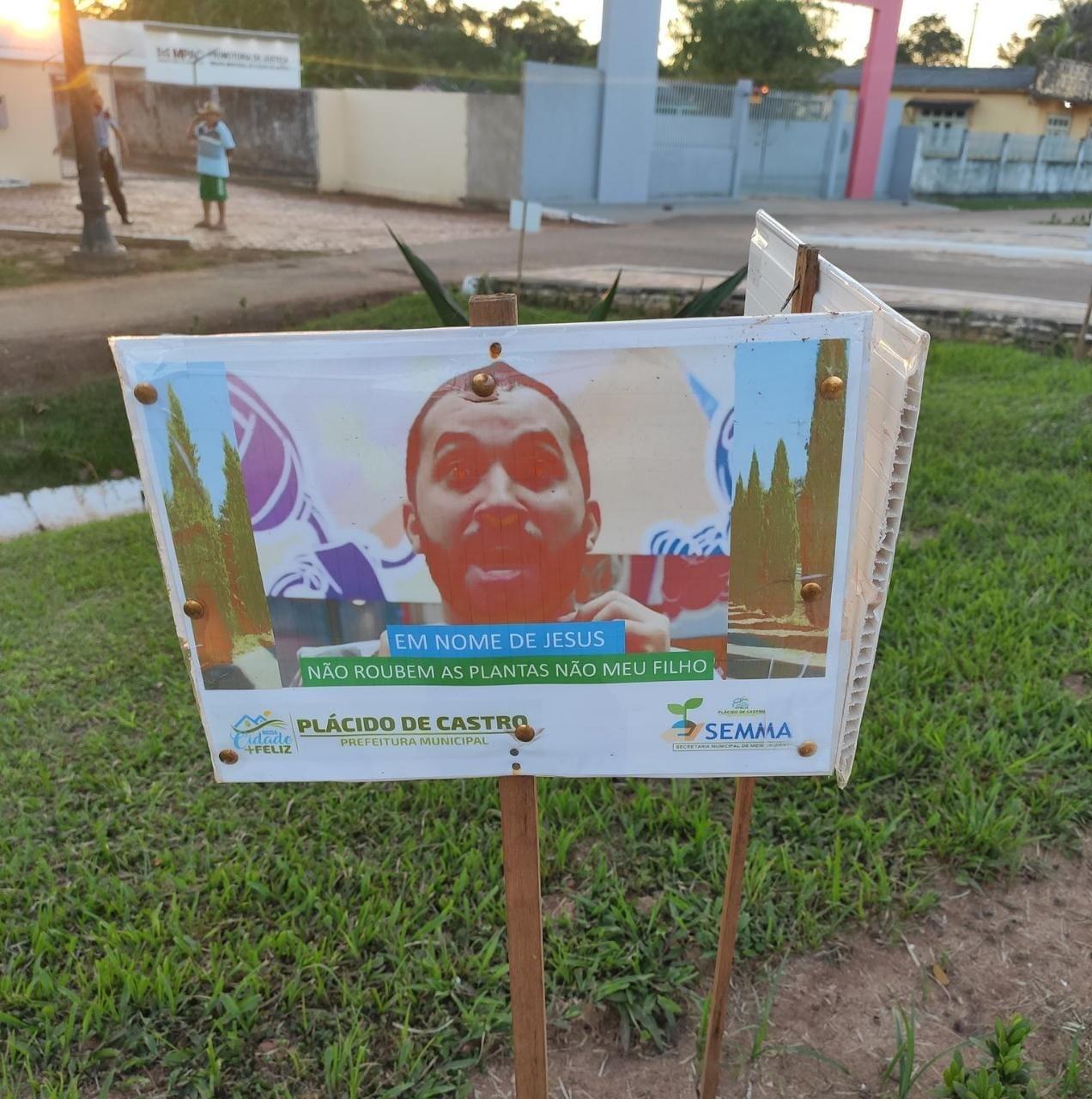 Com meme do ex-BBB Gil do Vigor, prefeitura alerta população contra furto de plantas em cidade no AC