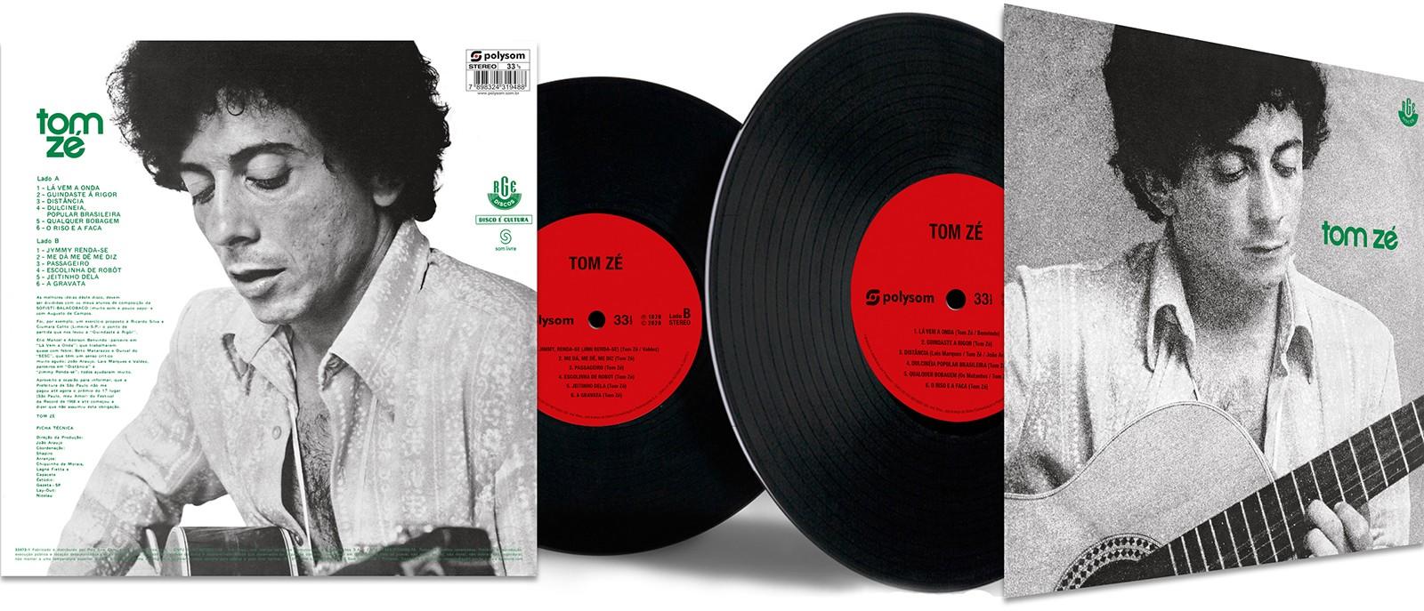 Segundo álbum de Tom Zé é reeditado no formato de LP