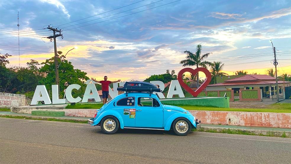 Conheça o vendedor que largou tudo para viajar pelo Maranhão com seu Fusca 1974 — Foto: Arquivo Pessoal