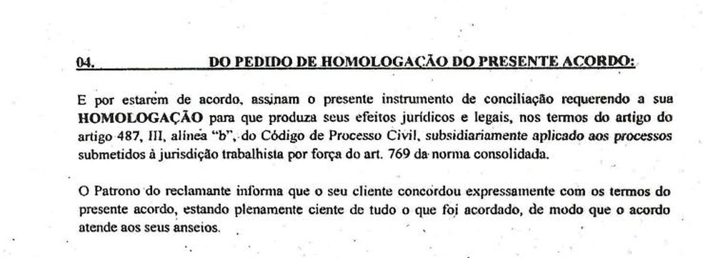 Terceiro trecho do documento de acordo entre o Sport e Magrão — Foto: Reprodução