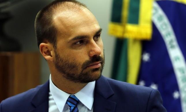 Eduardo Bolsonaro (PSL-SP) tem convocado apoiadores para que o sigam em novas redes