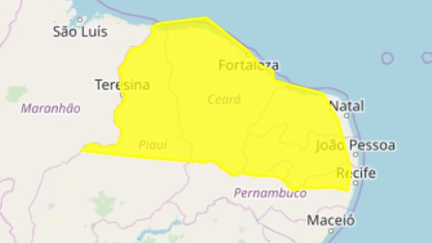 Inmet emite alerta de perigo de chuvas intensas para 208 cidades da Paraíba