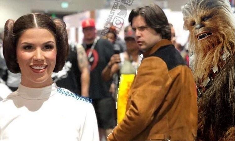 Até você, Chewie?! (Foto: Reprodução/Twitter)