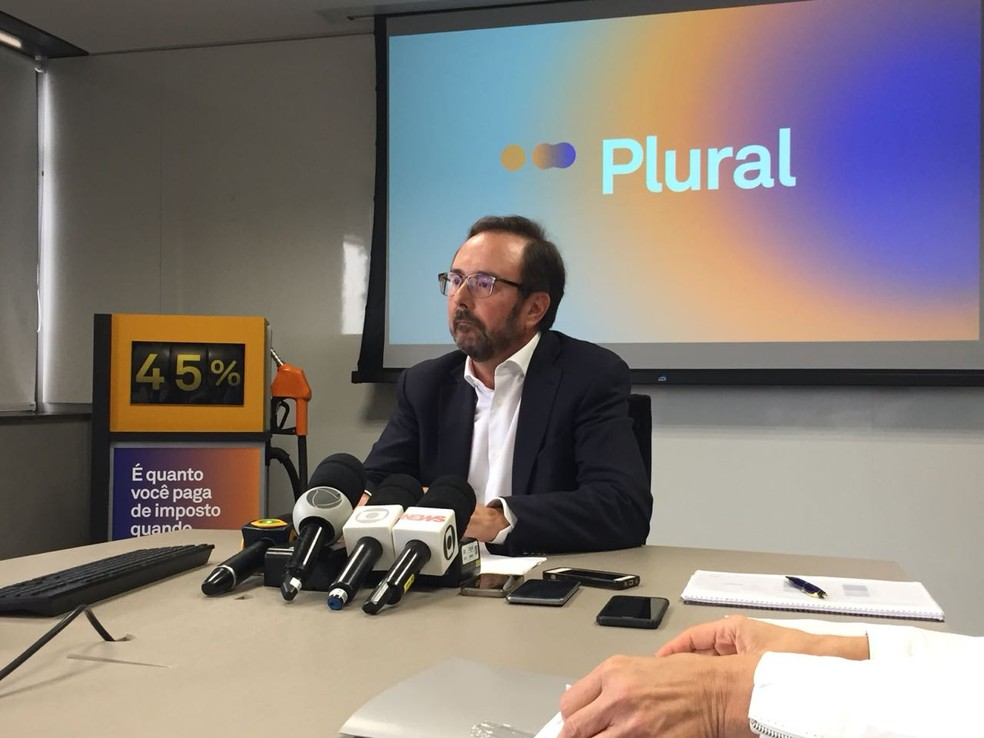 Presidente executivo da Plural, Leonardo Gadotti: subsídio anunciado é sobre o diesel mineral, que corresponde a 90% do produto vendido nas bombas. (Foto: Daniel Silveira/G1)