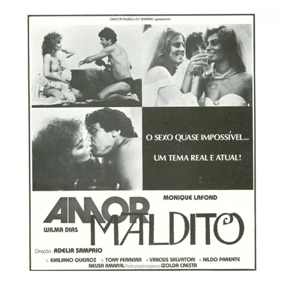 Cartaz de Amor Maldito, de Adélia Sampaio (Foto: Reprodução)