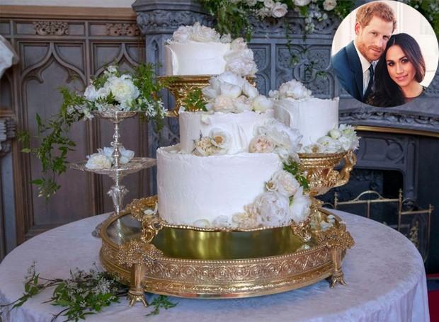 Bolo de casamento do Príncipe Harry com Meghan Markle (Foto: Instagram/ Reprodução)