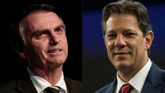 Jair Bolsonaro é orientado por um economista liberal; Fernando Haddad prevê usar o Estado para gerar empregos (Foto: Getty Images via BBC News Brasil)