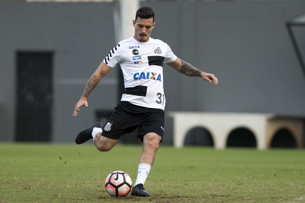 Zeca cobra falta no Santos (Foto:  Ivan Storti/ Santos FC)