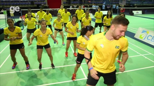 e8866d7228 Para amedrontar  seleção brasileira tem ritual no Pan júnior de badminton   assista