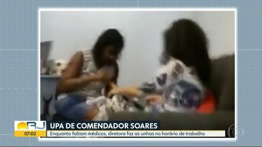 Diretora de UPA é flagrada fazendo as unhas na unidade na hora do expediente, na Baixada Fluminense