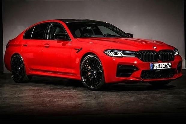 Primeira foto do BMW M5 reestilizado vazou nas redes sociais (Foto: Internet/Reprodução)