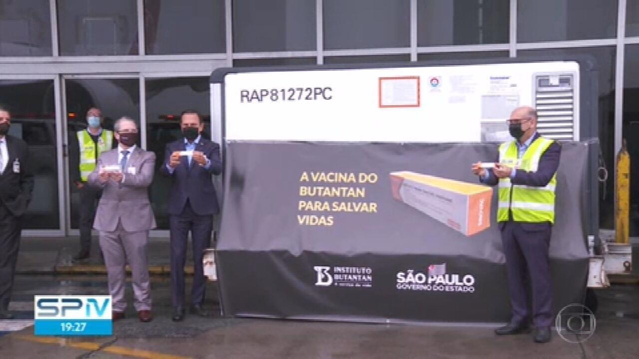 120 mil doses da Coronavac chegam a São Paulo