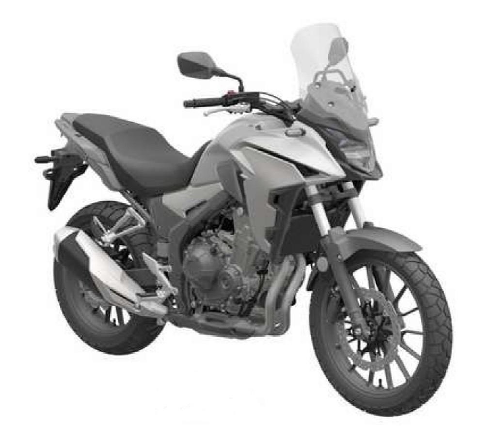 Honda CB 500X em registro de patente — Foto: Inpi/Divulgação