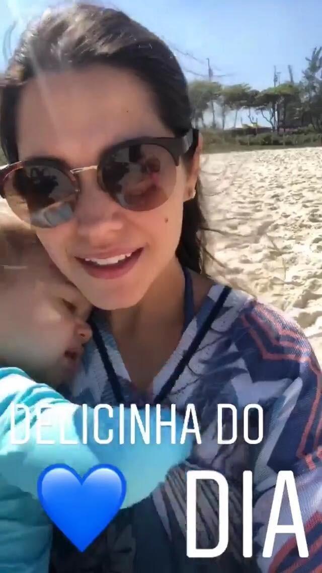 Thais Fersoza com filhos no Rio (Foto: Reprodução/Instagram)
