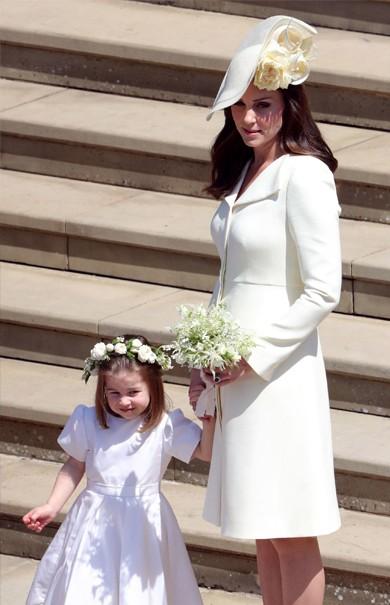 Casamento real: Kate Middleton faz primeira aparição pública oficial após o nascimento de Louis (Foto: Getty)