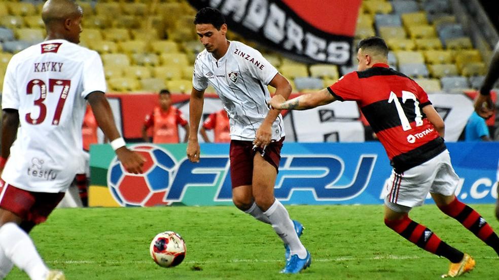 Ganso pouco participou do jogo atuando como falso 9 — Foto: Mailson Santana / Fluminense FC