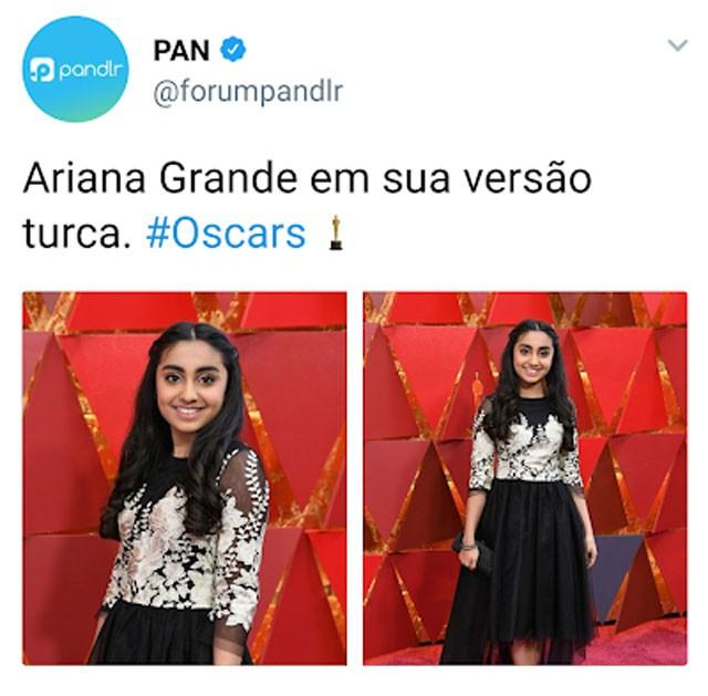 Ariana Grande no Oscar 2018? (Foto: Reprodução/Twitter)