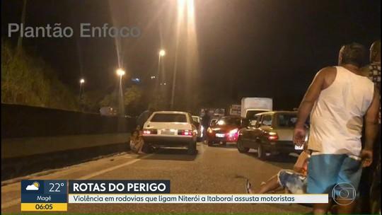 Fim de semana de violência nas rodovias que ligam Niterói a Itaboraí