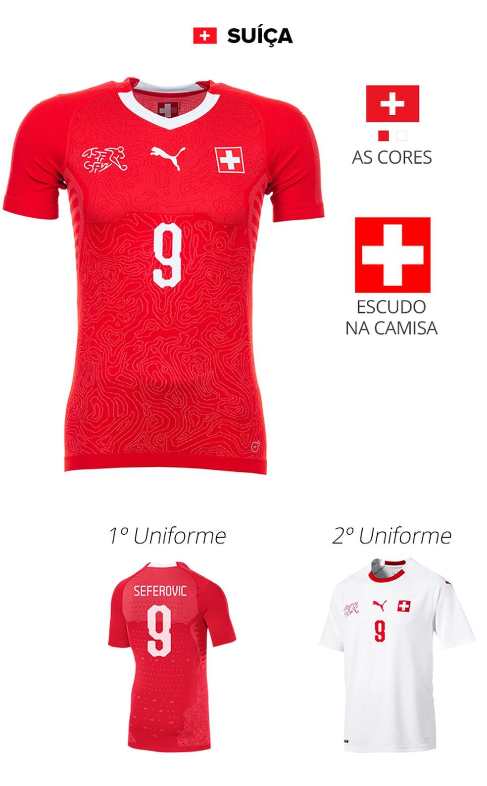 Conheça as camisas das 32 seleções da Copa do Mundo da Rússia  99107454c7bc0
