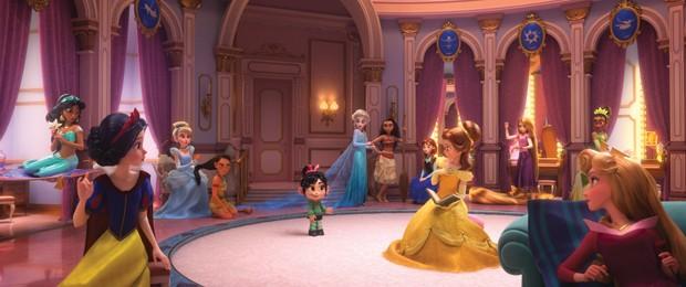 As Princesas Disney em 'WiFi Ralph' (Foto: divulgação)