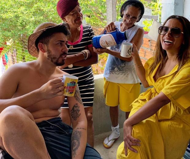 Anitta visita casa de Carlinhos Maia (Foto: Divulgação)