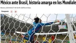 Jornais mexicanos se dividem sobre pegar o Brasil nas oitavas (Reprodução)