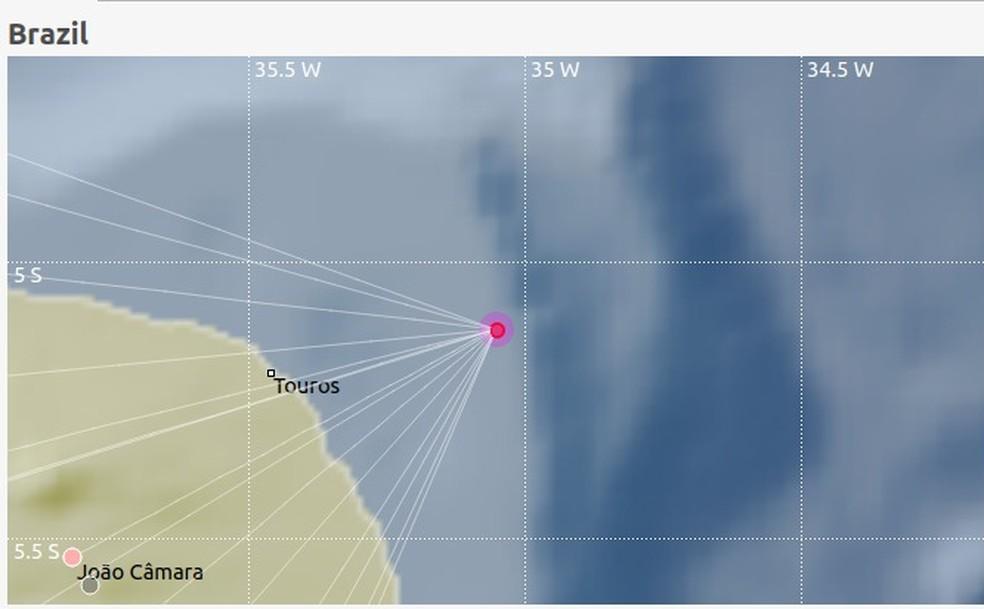 Tremor de Terra aconteceu no litoral do RN — Foto: Divulgação/LabSis