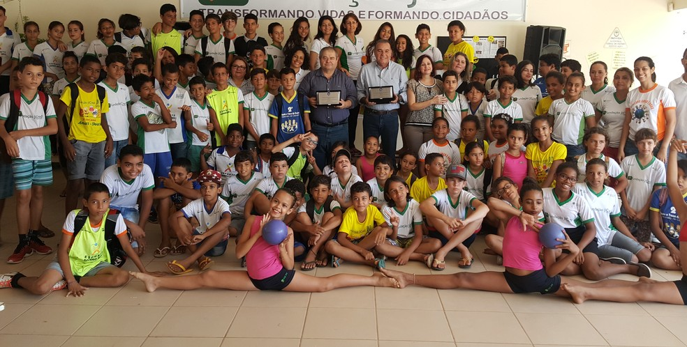 Projeto de incentivo à leitura é uma parceria entre escola e projeto Sonho Meu (Foto: Pâmela Fernandes/G1)