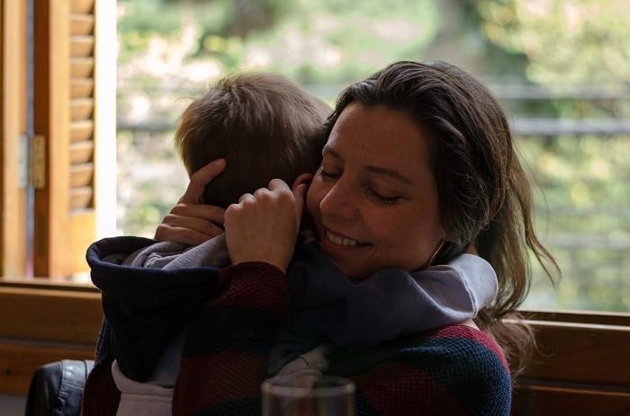 Pedro e eu no Suri Ceviche Bar, em foto da cunhada Simone Pimentel