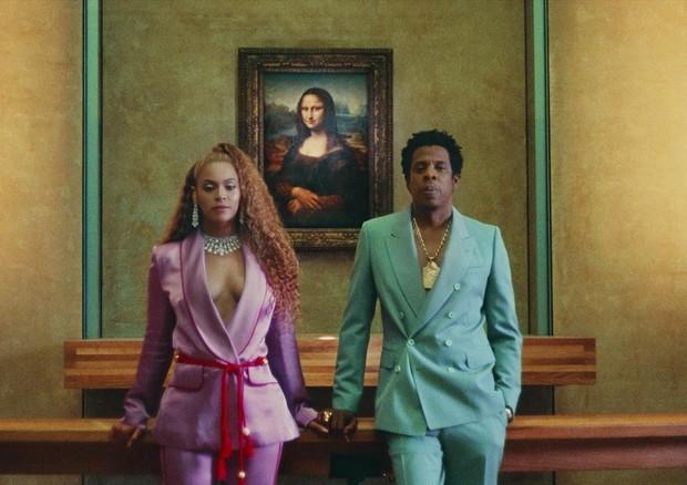 Beyoncé e Jay-Z no clipe (Foto: Reprodução)