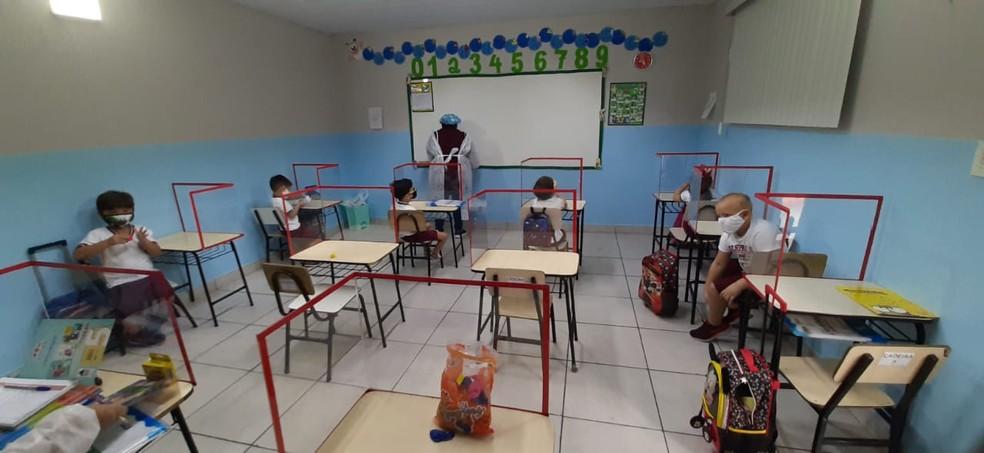 Escolas de educação infantil em Manaus retornaram às aulas no início de março. — Foto: Eliana Nascimento/G1