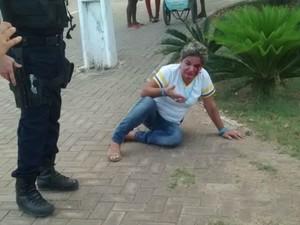 Agressão contra professora aconteceu na última quarta (Foto: Reprodução/ WhatsApp)