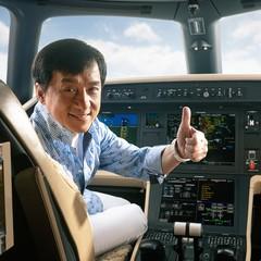Jackie Chan (Legacy 500 Embraer) (Foto: Divulgação)