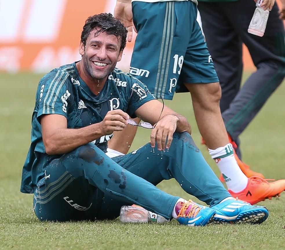 Assim como os torcedores, os jogadores gostavam muito do técnico (Foto: César Greco / Agência Palmeiras)