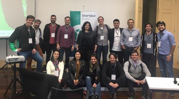Grupo de empreendedores que viajará a Boston no novo ciclo do StartOut Brasil (Foto: Divulgação)