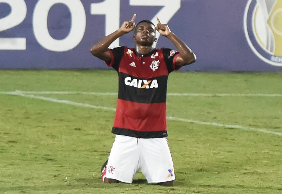 O atacante Lincoln foi eleito a Joia 2017 do Flamengo (Foto: André Durão/GloboEsporte.com)