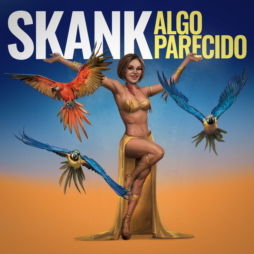 Capa do single 'Algo parecido', do Skank — Foto: Ilustração de Emerson Camaleão
