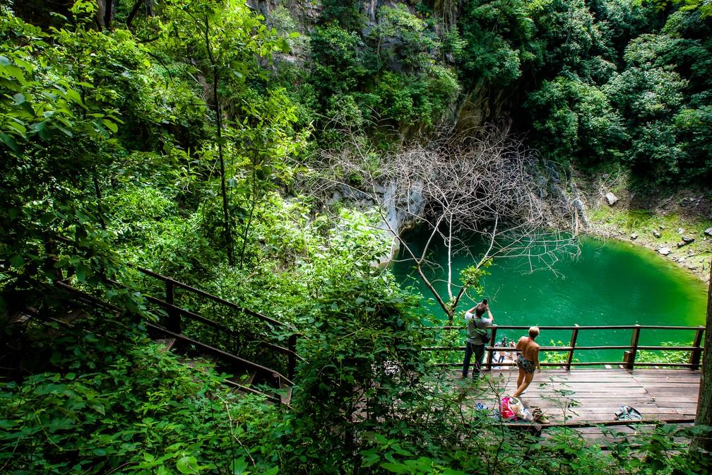 A cor da água muda de acordo com a época do ano — Foto: Chico Valdiner/Gcom-MT