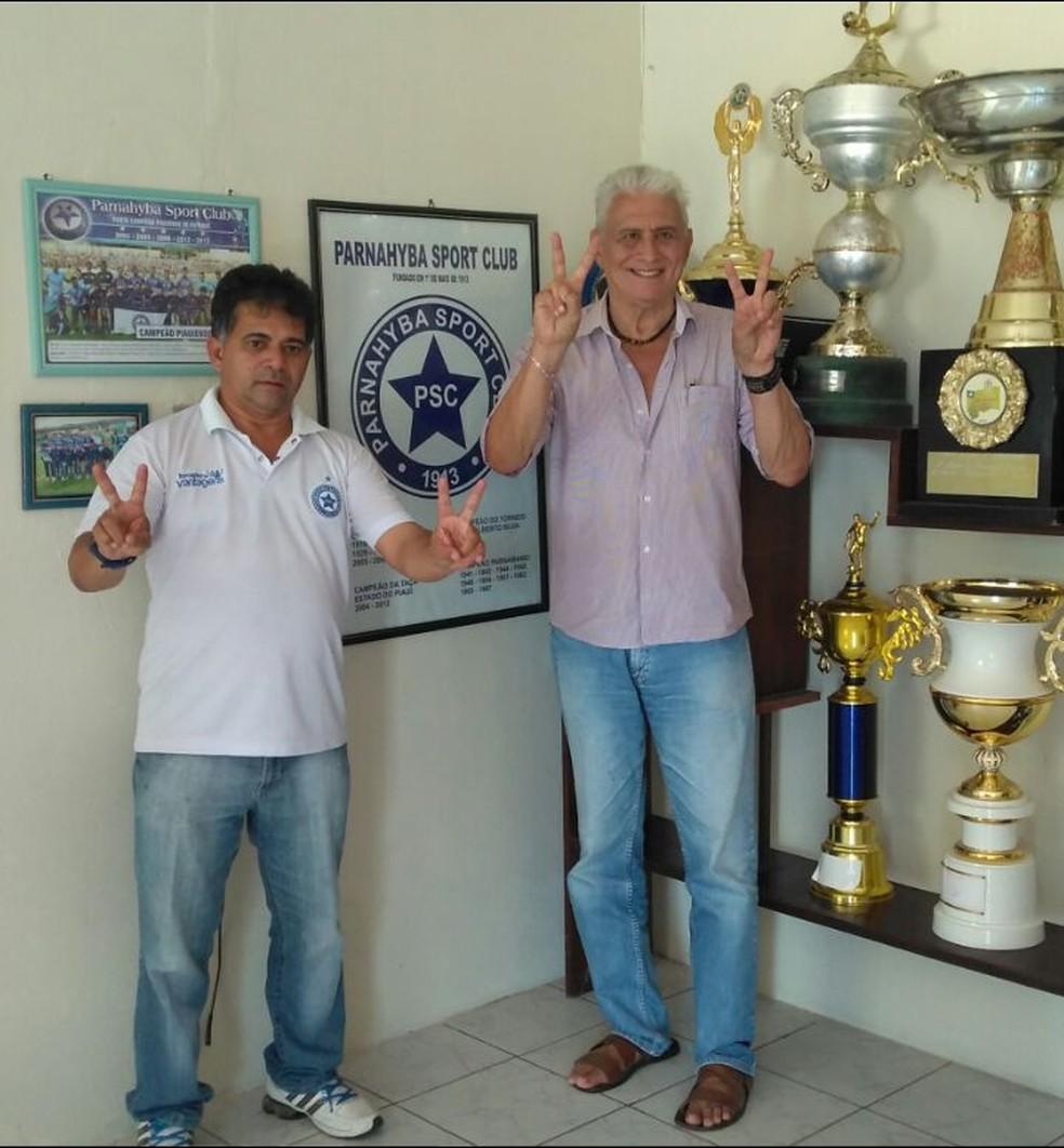 Batista Filho e seu vice, Osvaldo Brandão (Foto: Miguel Bezerra)