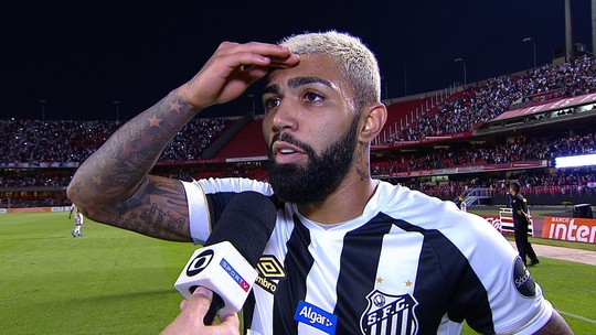 Gabigol diz que o Santos não fez um jogo ruim, mas tem que ter volume desde o início