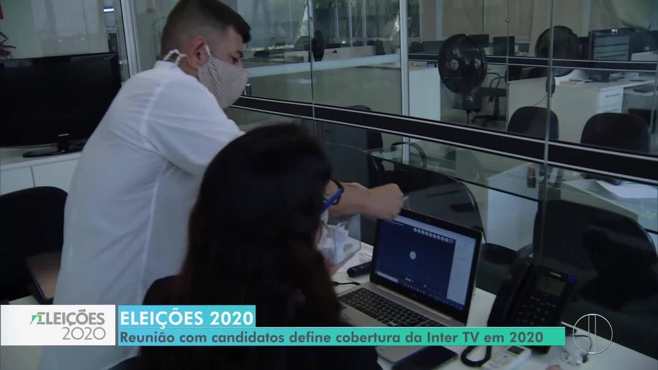 Reunião com candidatos define cobertura da Inter TV nas eleições de 2020