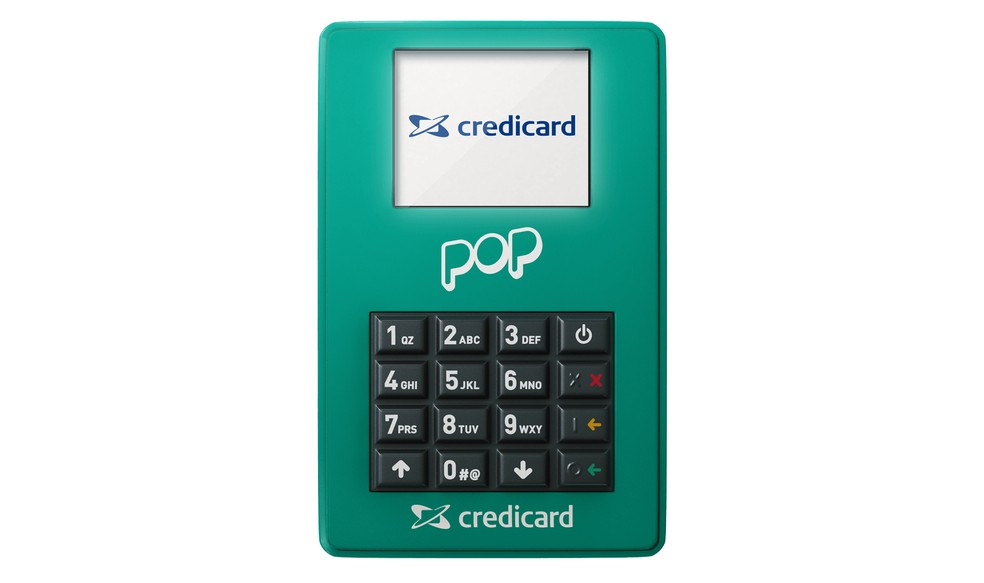 Pop tem design compacto com teclado físico e envio de comprovantes por e-mail ou SMS (Foto: Divulgação/Credicard)