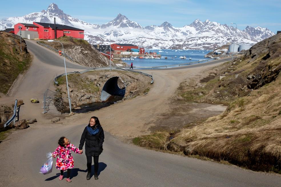 A Groenlândia é um território dinamarquês autônomo — Foto: Lucas Jackson/Reuters