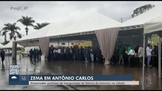 Romeu Zema cumpre agenda no Campo das Vertentes após visitar outras regiões de MG