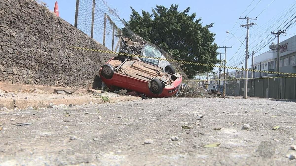 Motorista embriagado perde o controle, capota e atinge seis carros na Anhanguera